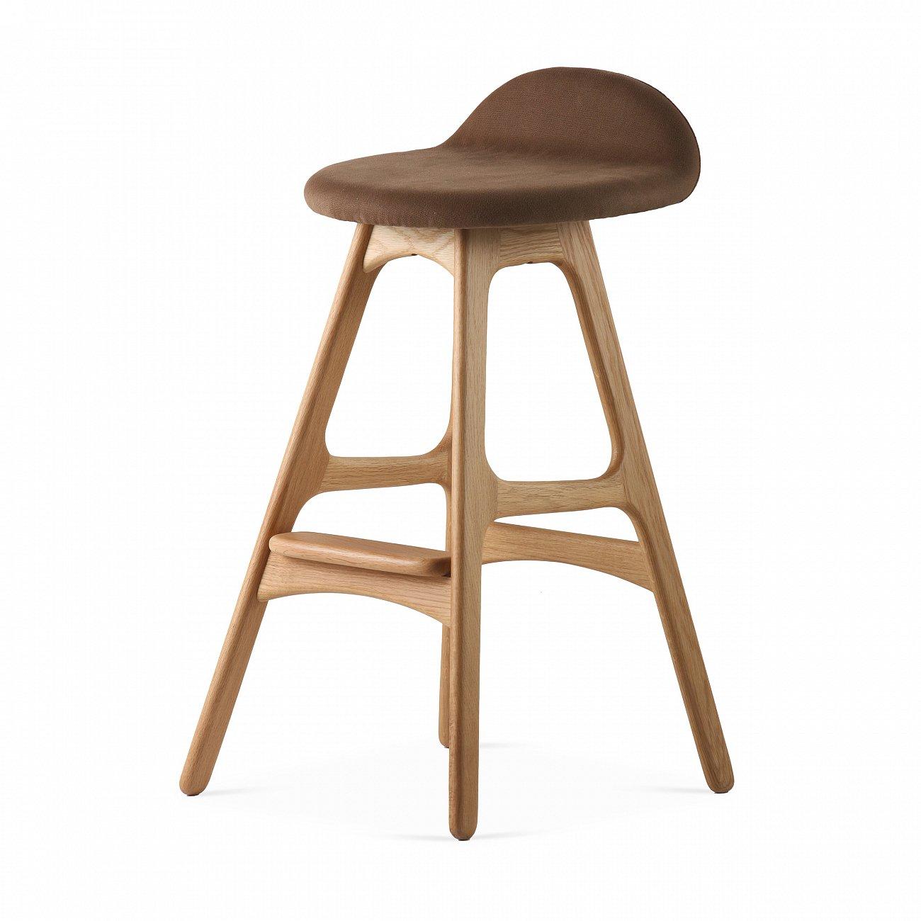 Купить Барный стул Buch Тёмно-Коричневый на светлых ножках в интернет магазине дизайнерской мебели и аксессуаров для дома и дачи