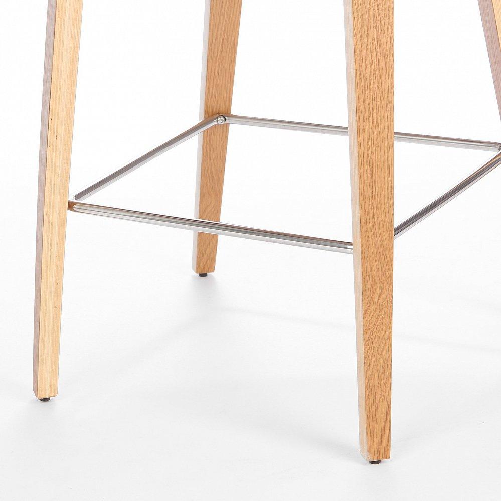 Барный стул Cherner с обивкой темно серый