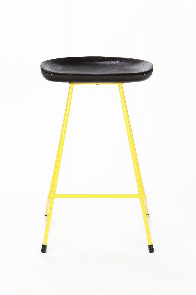 Полубарный стул Henry Hairpin черный