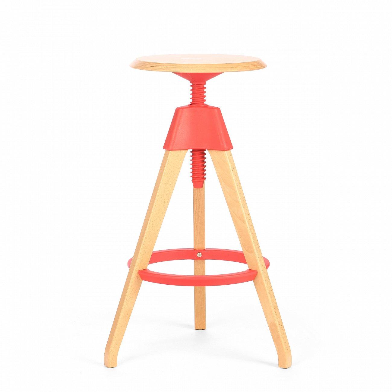 Купить Барный стул Jerry Красный в интернет магазине дизайнерской мебели и аксессуаров для дома и дачи