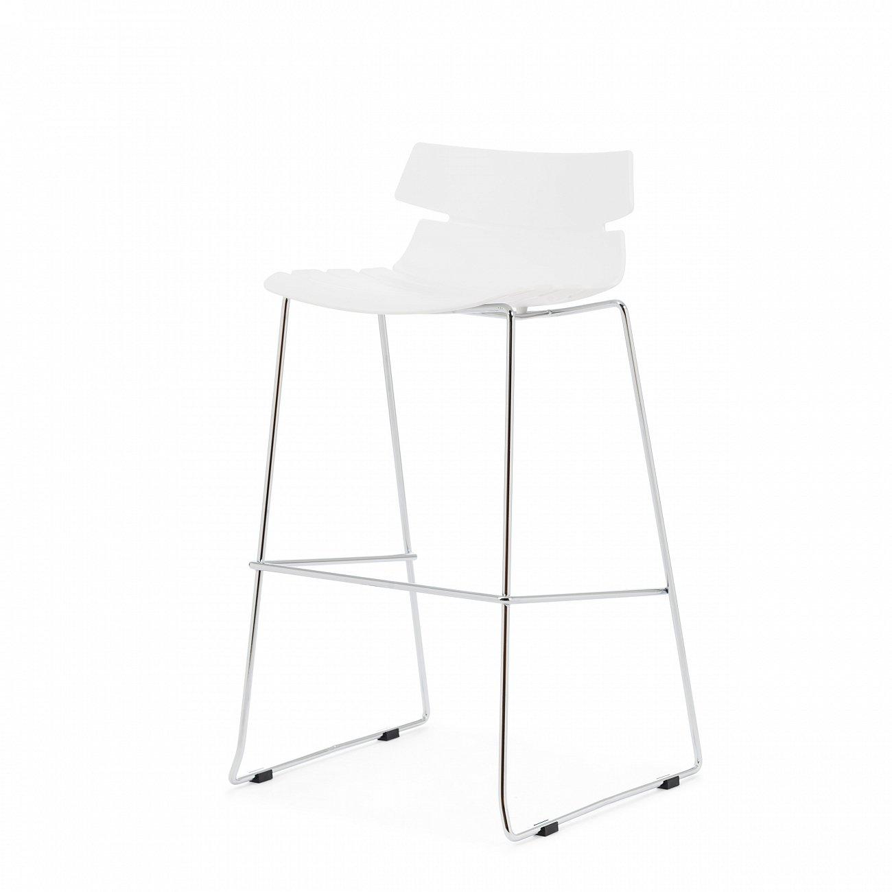 Купить Барный стул Techno Белый в интернет магазине дизайнерской мебели и аксессуаров для дома и дачи