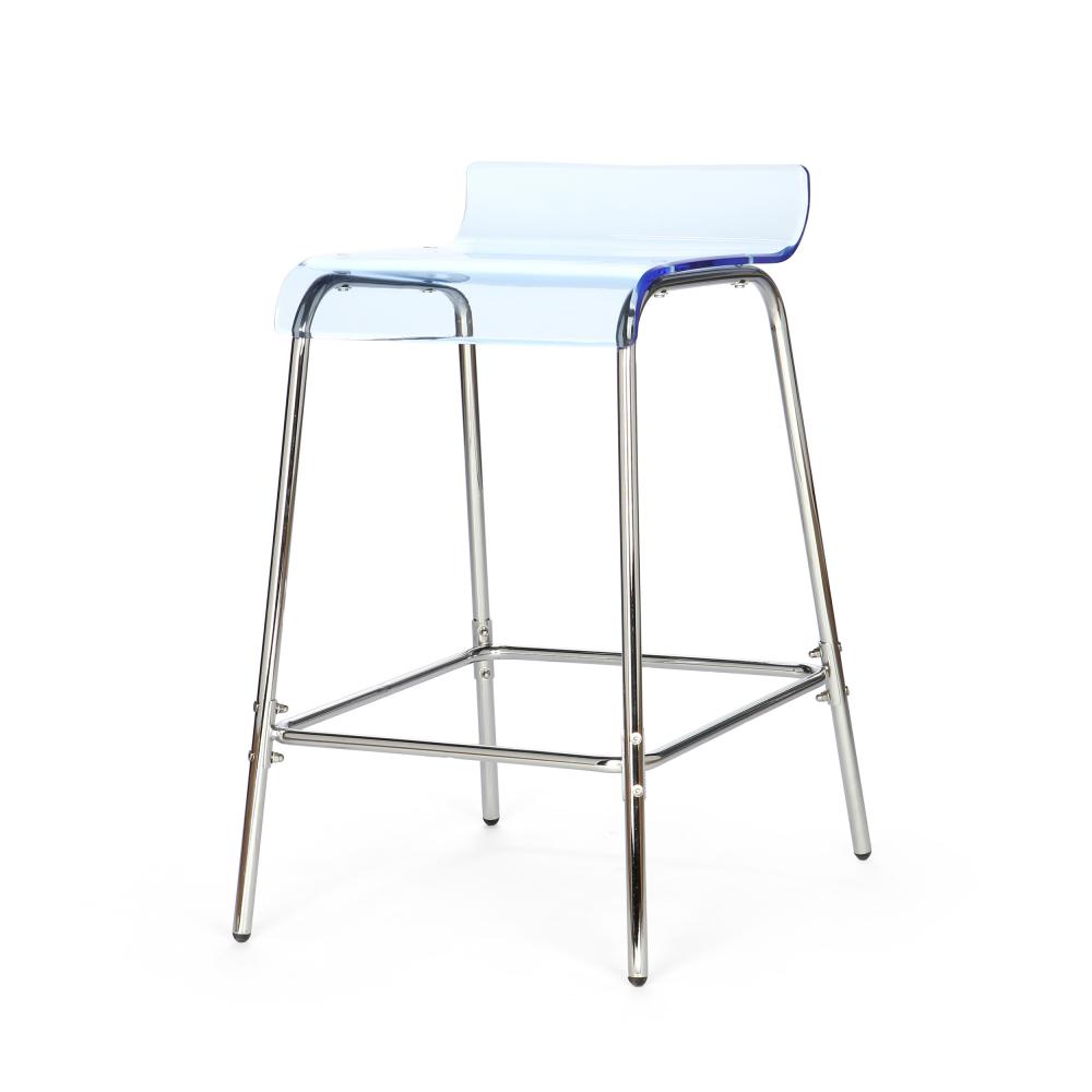 Барный стул Acrylic голубой