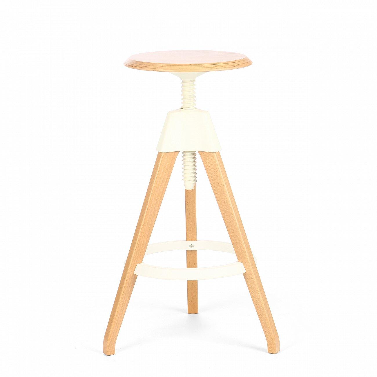 Купить Барный стул Jerry Белый в интернет магазине дизайнерской мебели и аксессуаров для дома и дачи