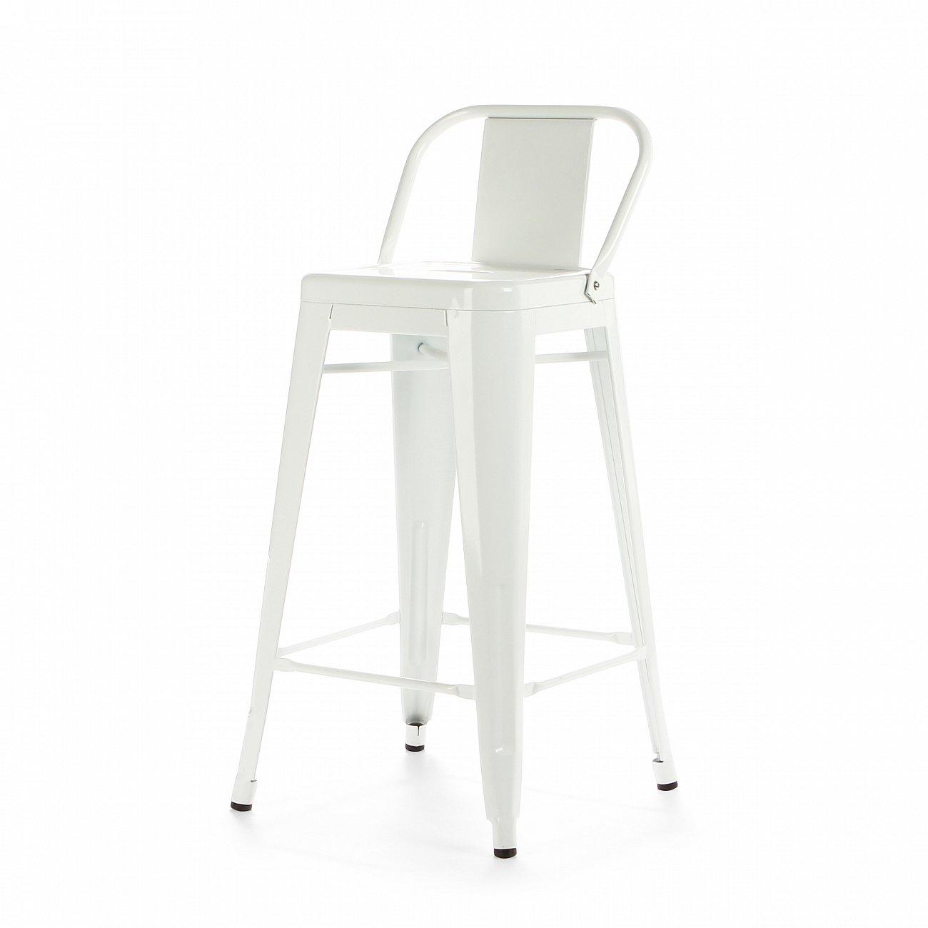 Купить Барный стул Marais Color со спинкой Белый в интернет магазине дизайнерской мебели и аксессуаров для дома и дачи