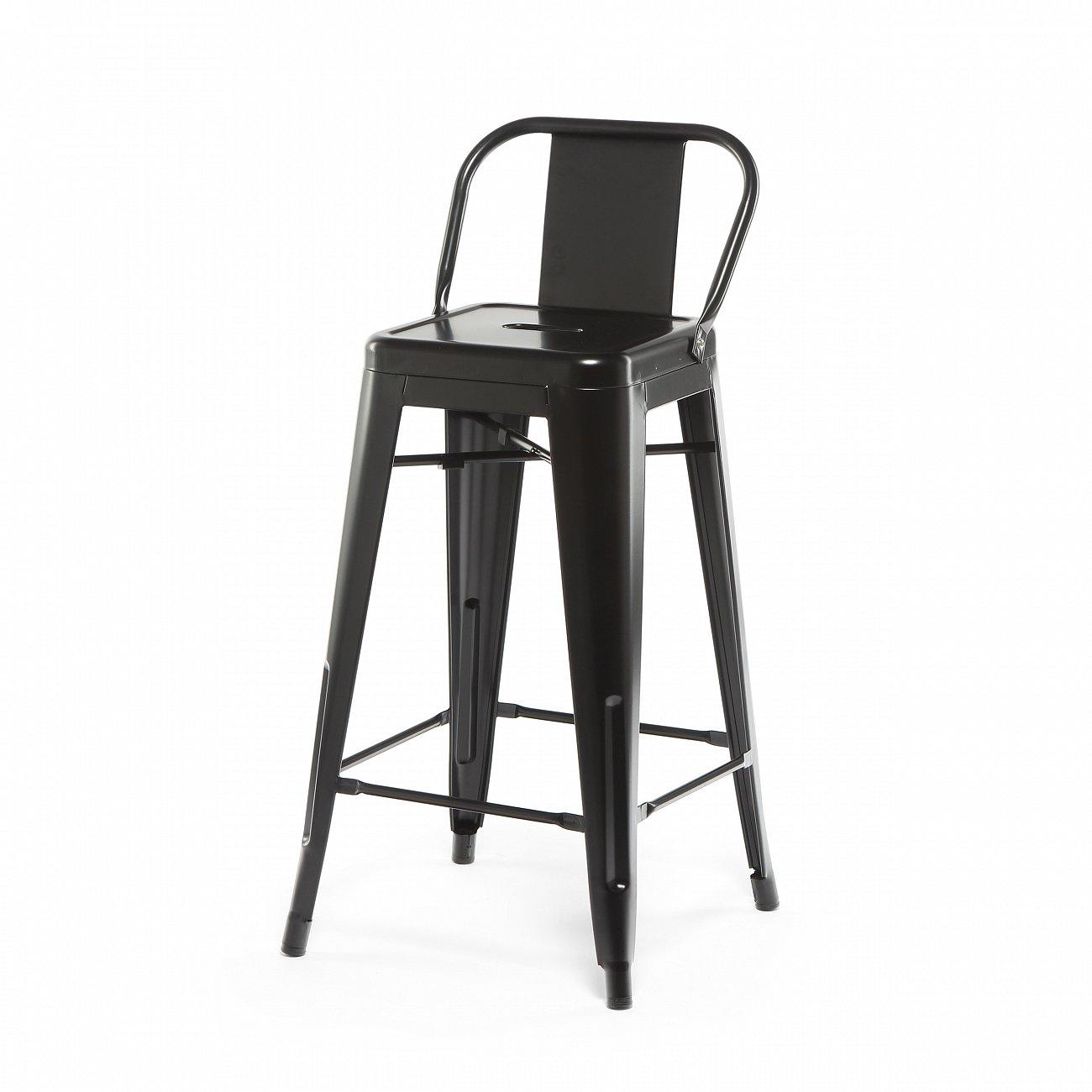 Купить Барный стул Marais Color со спинкой Чёрный в интернет магазине дизайнерской мебели и аксессуаров для дома и дачи