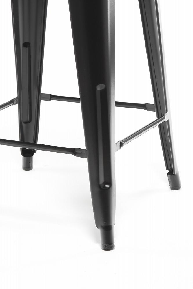 Барный стул Marais Color со спинкой черный
