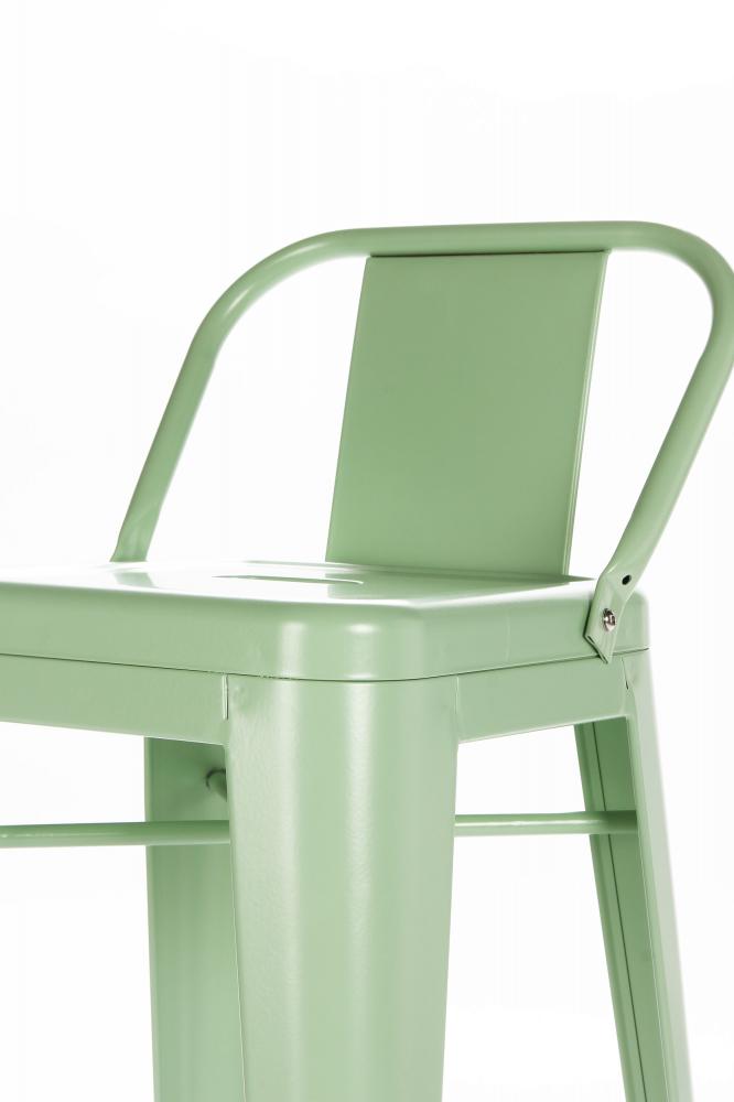 Барный стул Marais Color со спинкой зеленый
