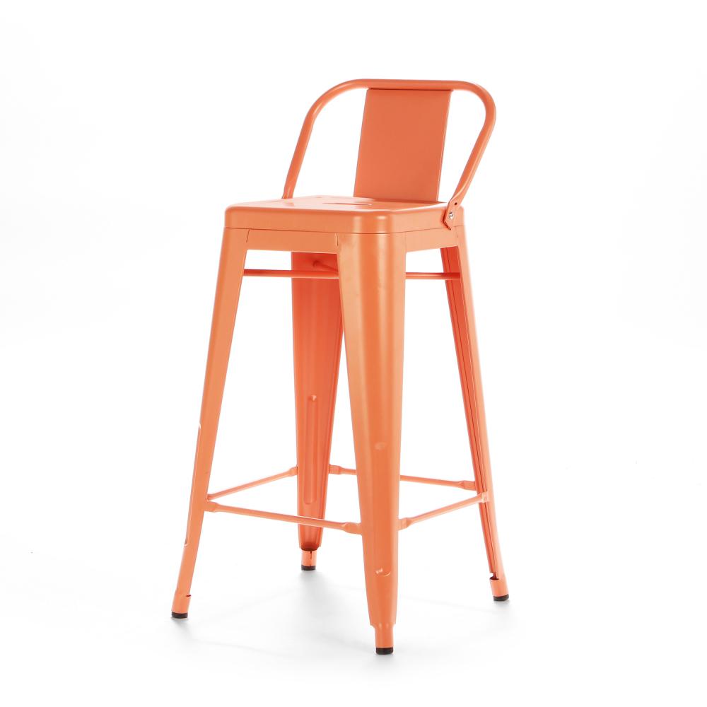 Барный стул Marais Color со спинкой оранжевый