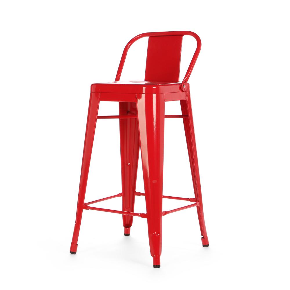 Барный стул Marais Color со спинкой Красный