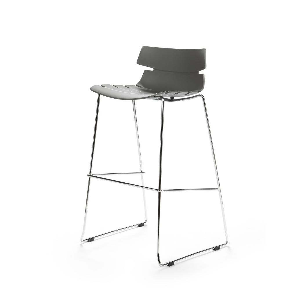 Барный стул Techno серый