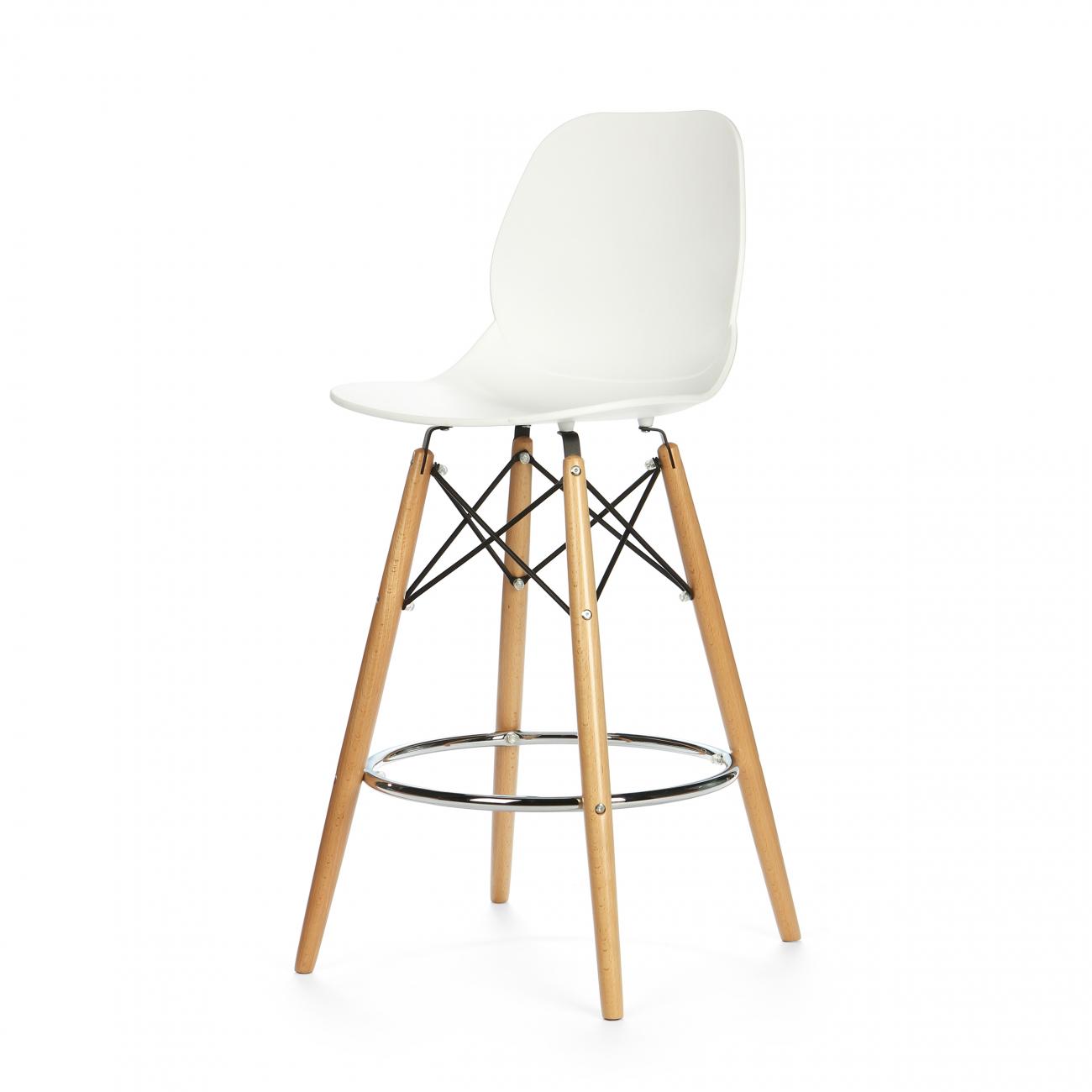 Купить Барный стул Классик DSW Белый в интернет магазине дизайнерской мебели и аксессуаров для дома и дачи