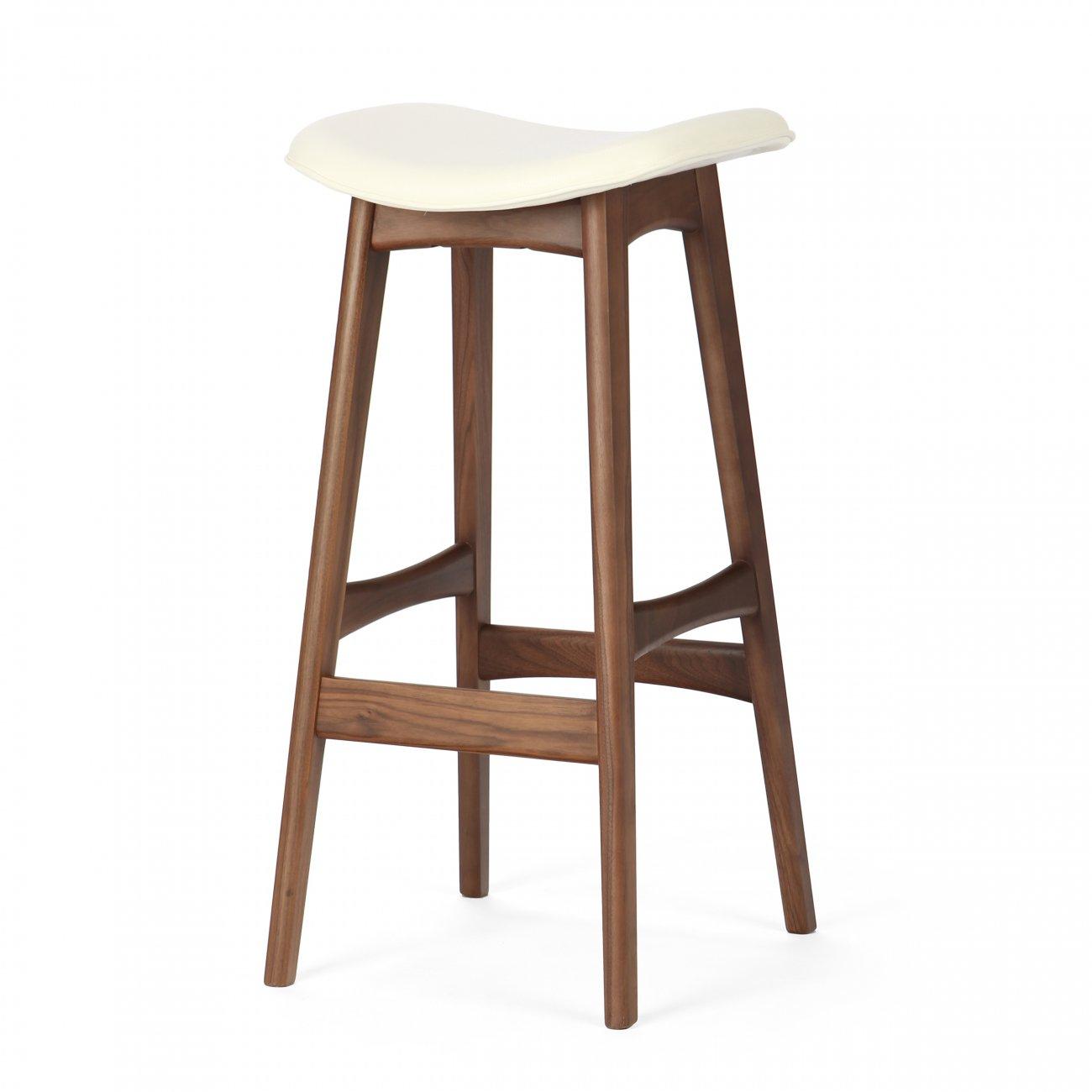Купить Барный стул Allegra Белый, высокий в интернет магазине дизайнерской мебели и аксессуаров для дома и дачи