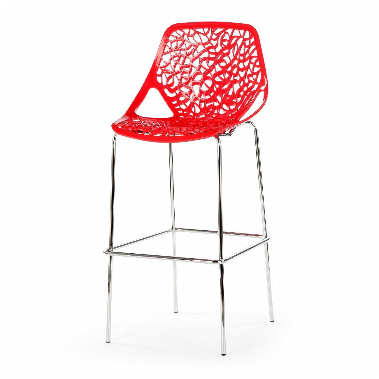 Купить Барный стул Caprice Красный в интернет магазине дизайнерской мебели и аксессуаров для дома и дачи