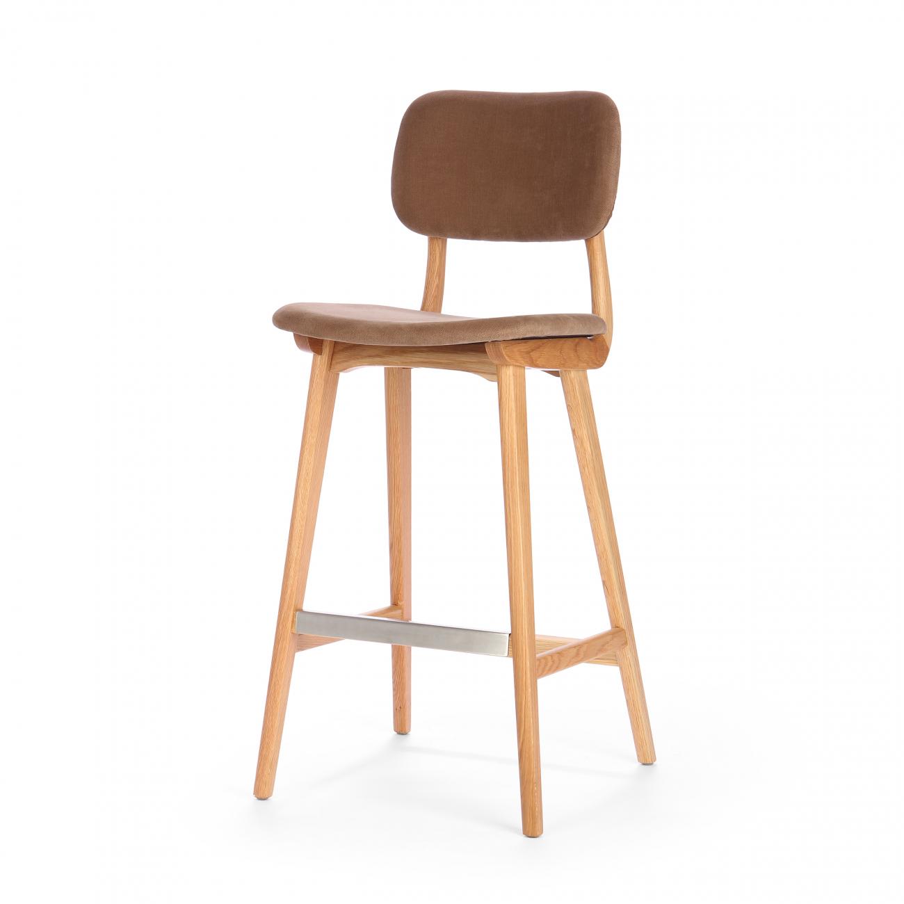Купить Барный стул Civil Коричневый в интернет магазине дизайнерской мебели и аксессуаров для дома и дачи