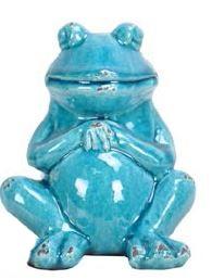 Купить Декор Frog blue wise в интернет магазине дизайнерской мебели и аксессуаров для дома и дачи