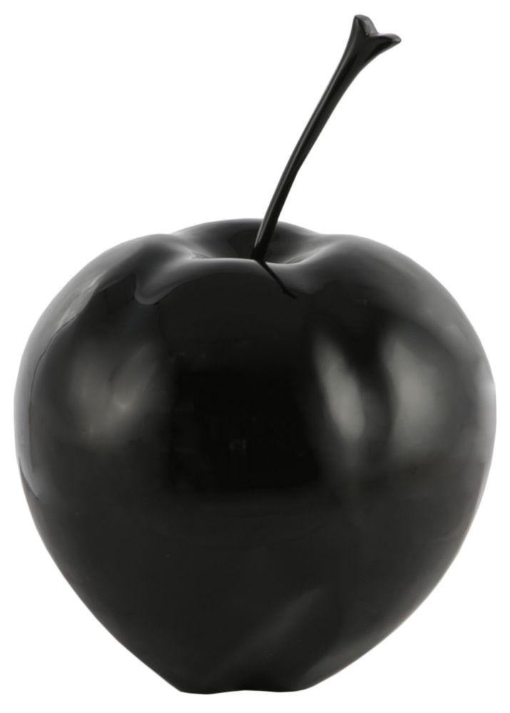 Купить Предмет декора статуэтка Яблоко Apple black middle mat в интернет магазине дизайнерской мебели и аксессуаров для дома и дачи