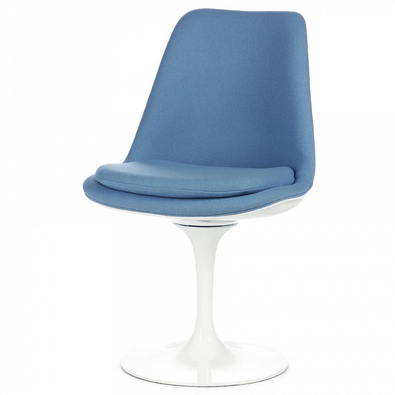 Купить Стул Tulip с обитой спинкой Голубой в интернет магазине дизайнерской мебели и аксессуаров для дома и дачи