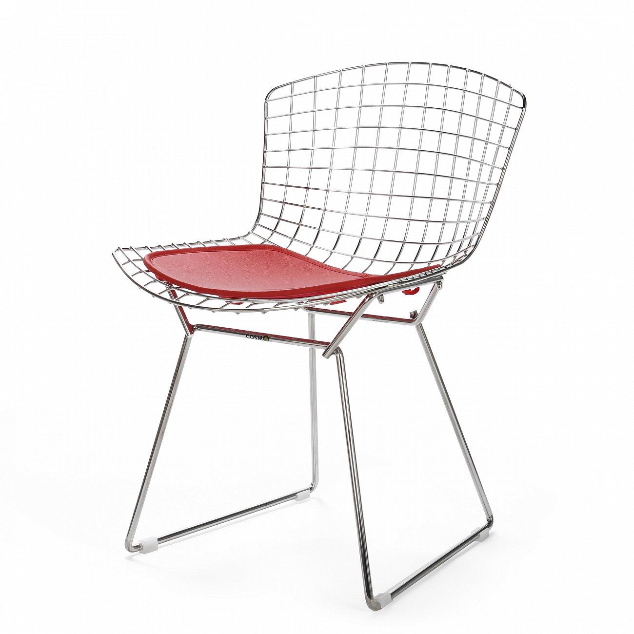 Купить Стул Bertoia Side кожаный Standart Бронза в интернет магазине дизайнерской мебели и аксессуаров для дома и дачи
