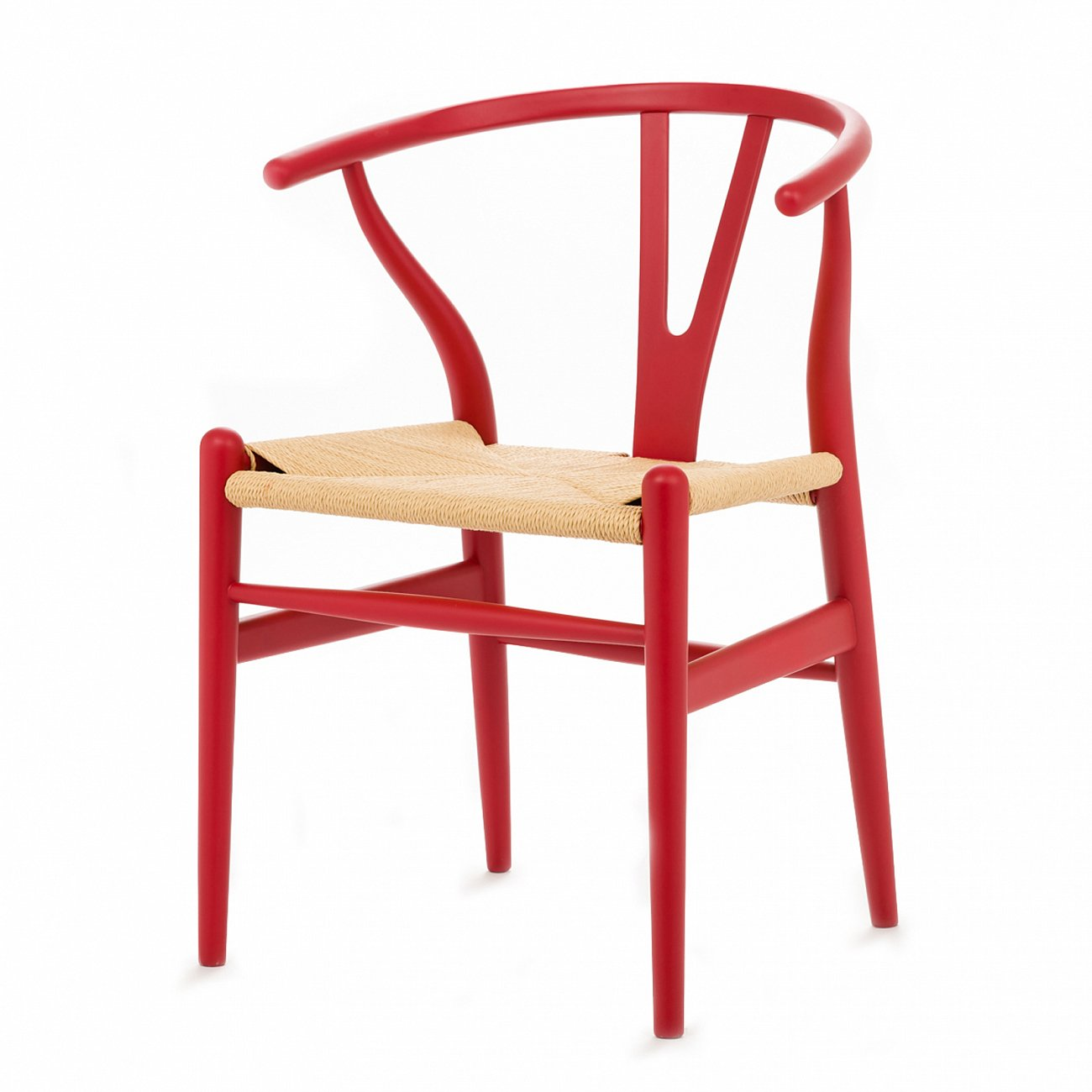 Купить Стул Wishbone окрашеный Красный в интернет магазине дизайнерской мебели и аксессуаров для дома и дачи
