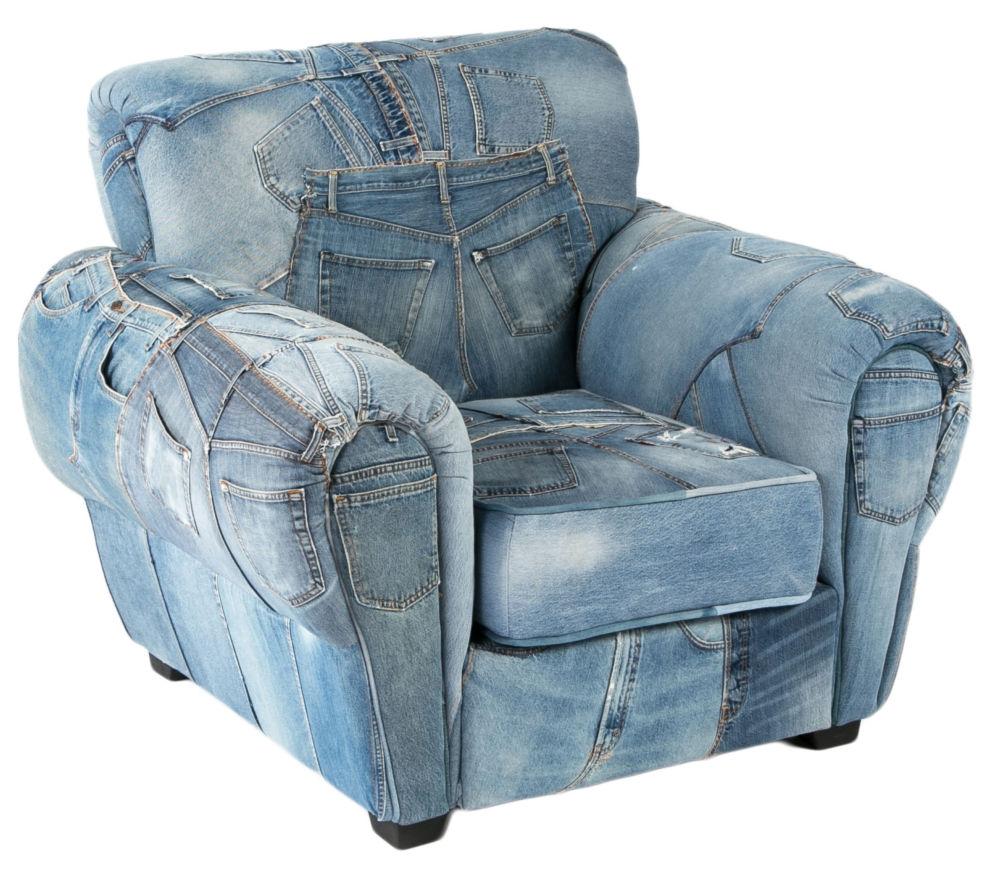 Купить Кресло San Francisco jeans armchair в интернет магазине дизайнерской мебели и аксессуаров для дома и дачи