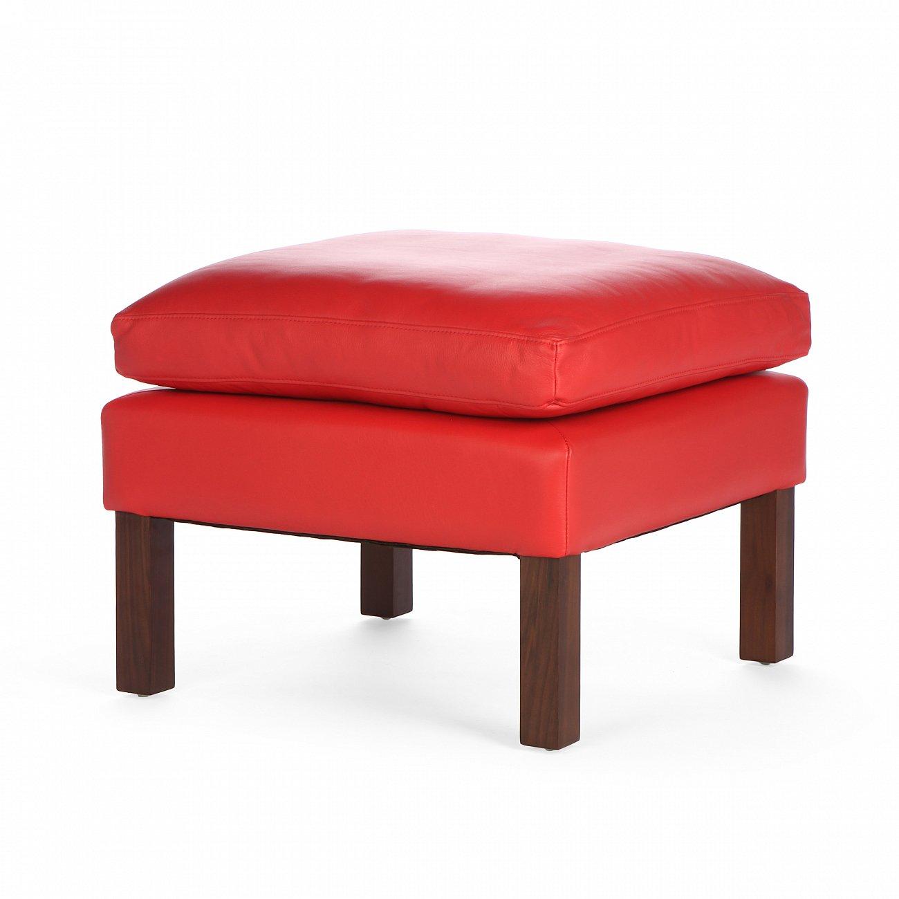 Купить Оттоманка Mogensen кожа waxy красная в интернет магазине дизайнерской мебели и аксессуаров для дома и дачи
