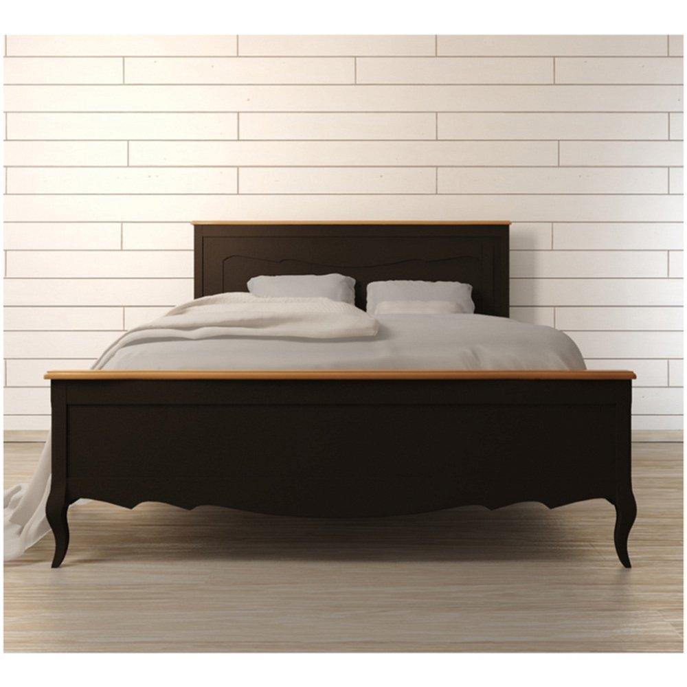 """Стильная двуспальная кровать """"Leontina Black"""" 160х200"""