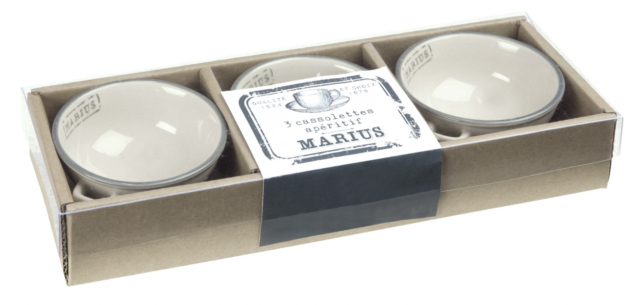 """Купить Пиалы в подарочной коробке """"Мариус"""" COMPTOIR de FAMILLE в интернет магазине дизайнерской мебели и аксессуаров для дома и дачи"""