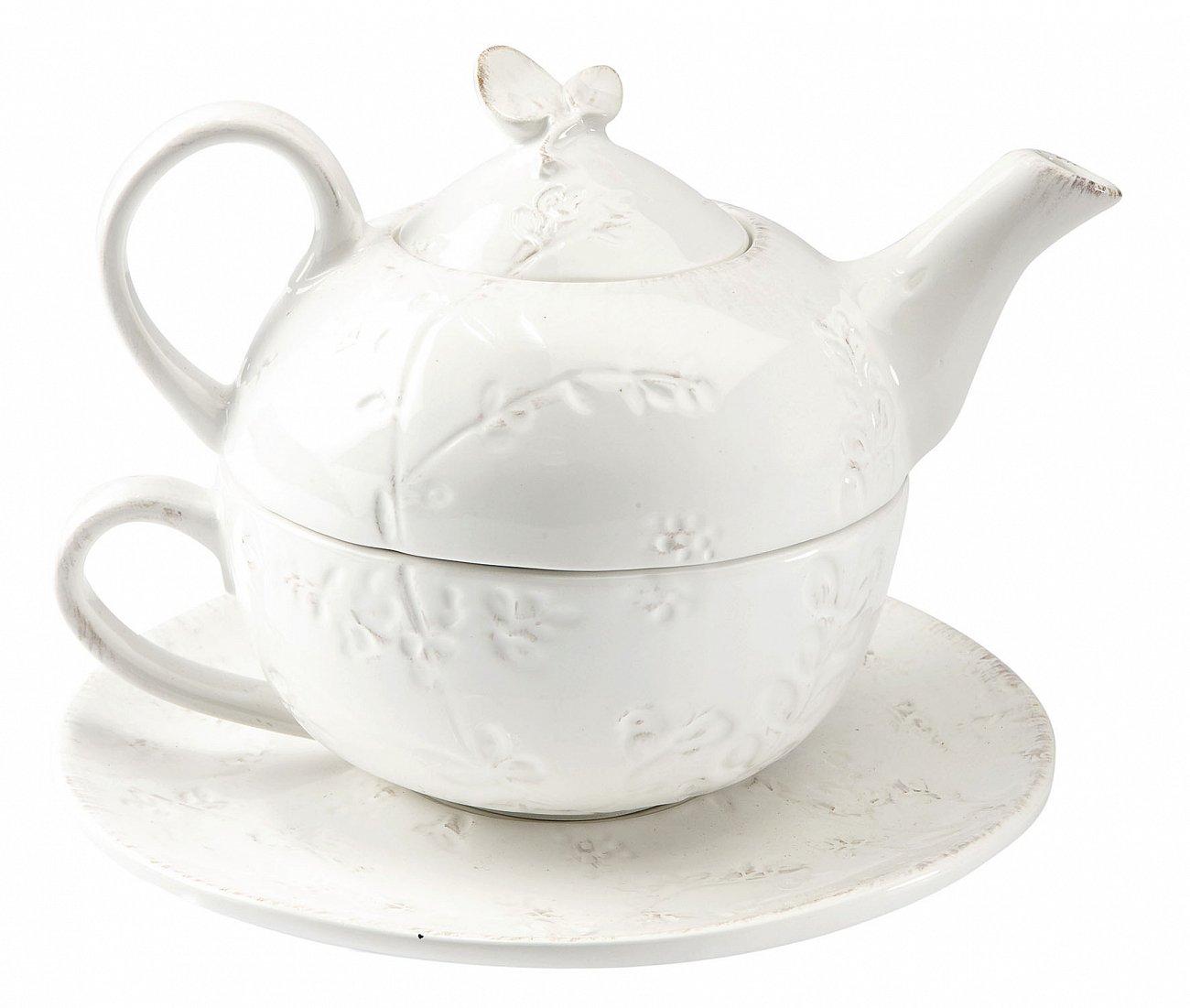 """Купить Чайник и чашка """"Дикие травы"""" COMPTOIR de FAMILLE в интернет магазине дизайнерской мебели и аксессуаров для дома и дачи"""