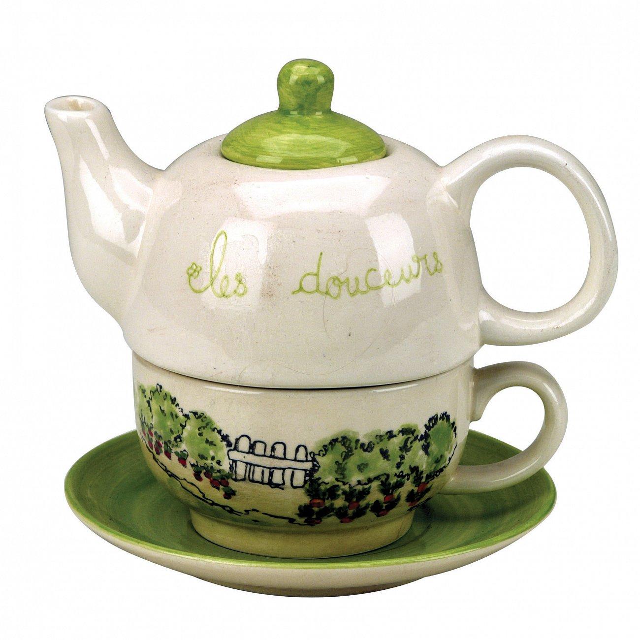 """Купить Чайник и кружка """"Городской магазин"""" COUNTRY CORNER VQ в интернет магазине дизайнерской мебели и аксессуаров для дома и дачи"""