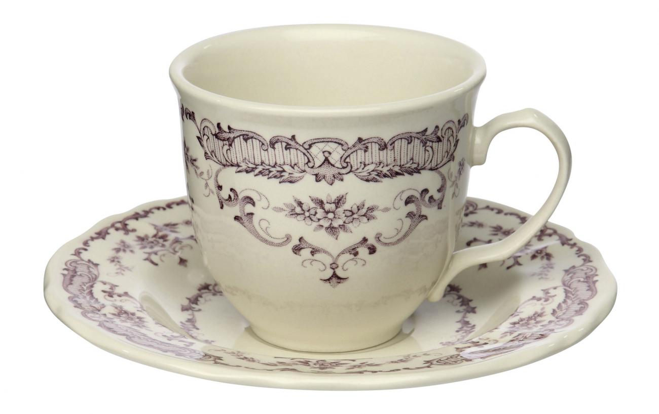 """Купить Чашка с блюдцем """"Камилла"""" COMPTOIR de FAMILLE в интернет магазине дизайнерской мебели и аксессуаров для дома и дачи"""