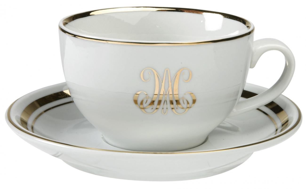 """Купить Чашки чайные с блюдцами """"Наследница"""" ( пары) COMPTOIR de FAMILLE в интернет магазине дизайнерской мебели и аксессуаров для дома и дачи"""