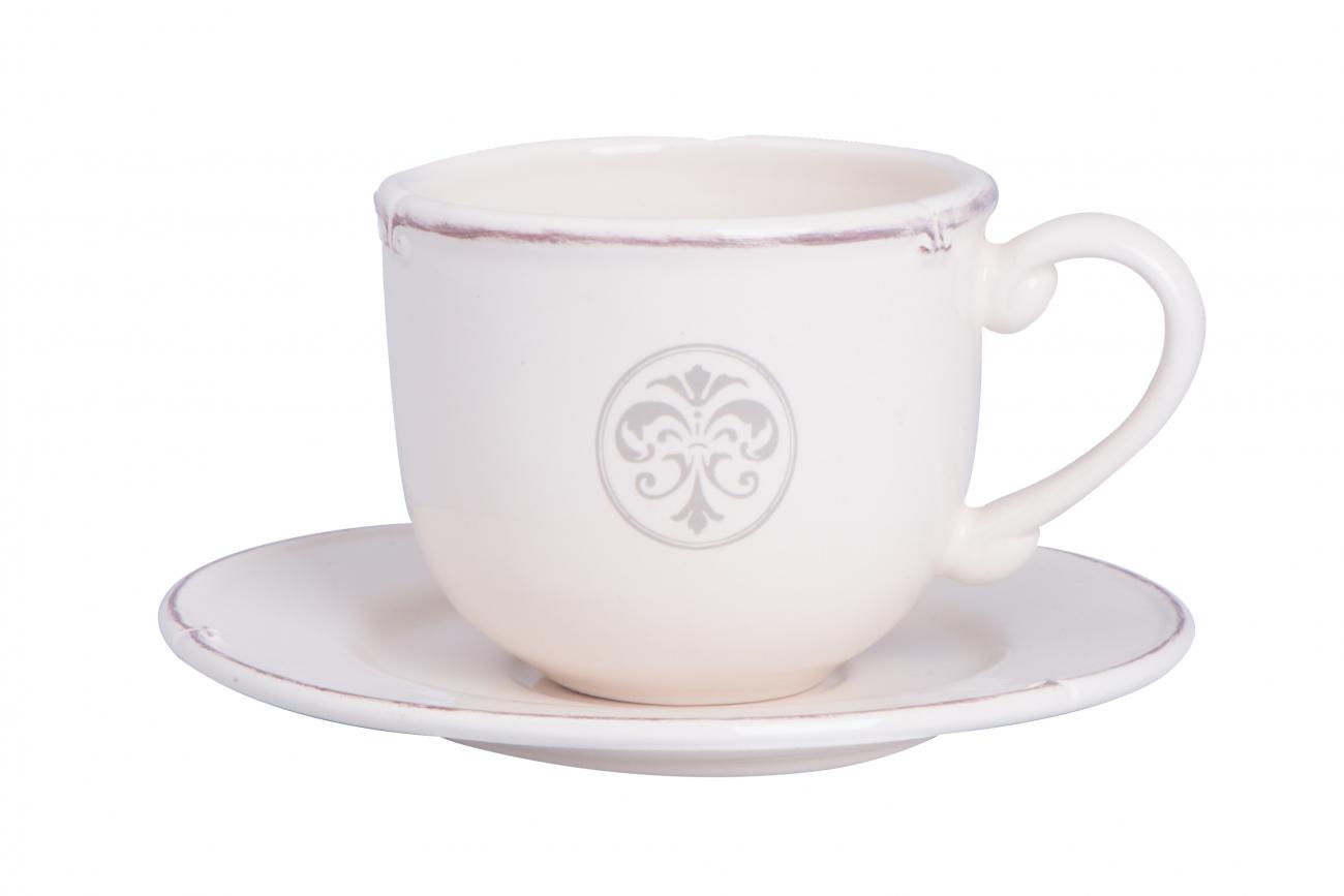 """Купить Чашка чайная с блюдцем """"Монограмма"""" LV в интернет магазине дизайнерской мебели и аксессуаров для дома и дачи"""