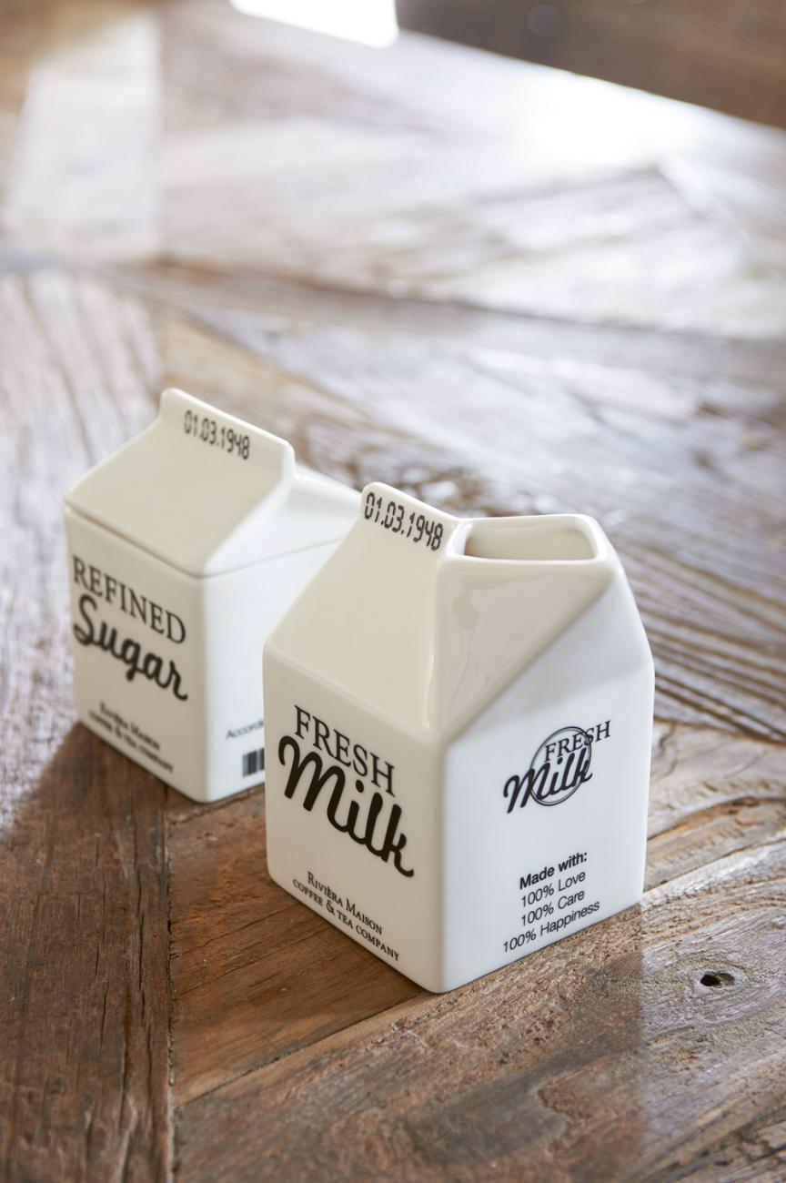 Купить Молочник в виде пакета молока Riviera Maison r в интернет магазине дизайнерской мебели и аксессуаров для дома и дачи