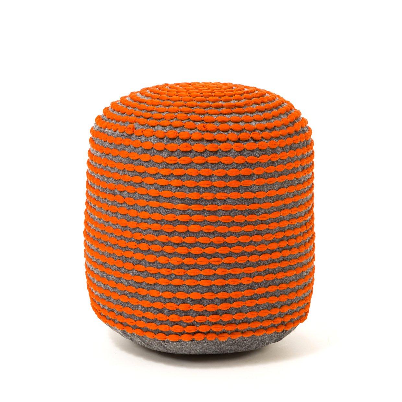 Купить Пуф Rococo оранжевый в интернет магазине дизайнерской мебели и аксессуаров для дома и дачи
