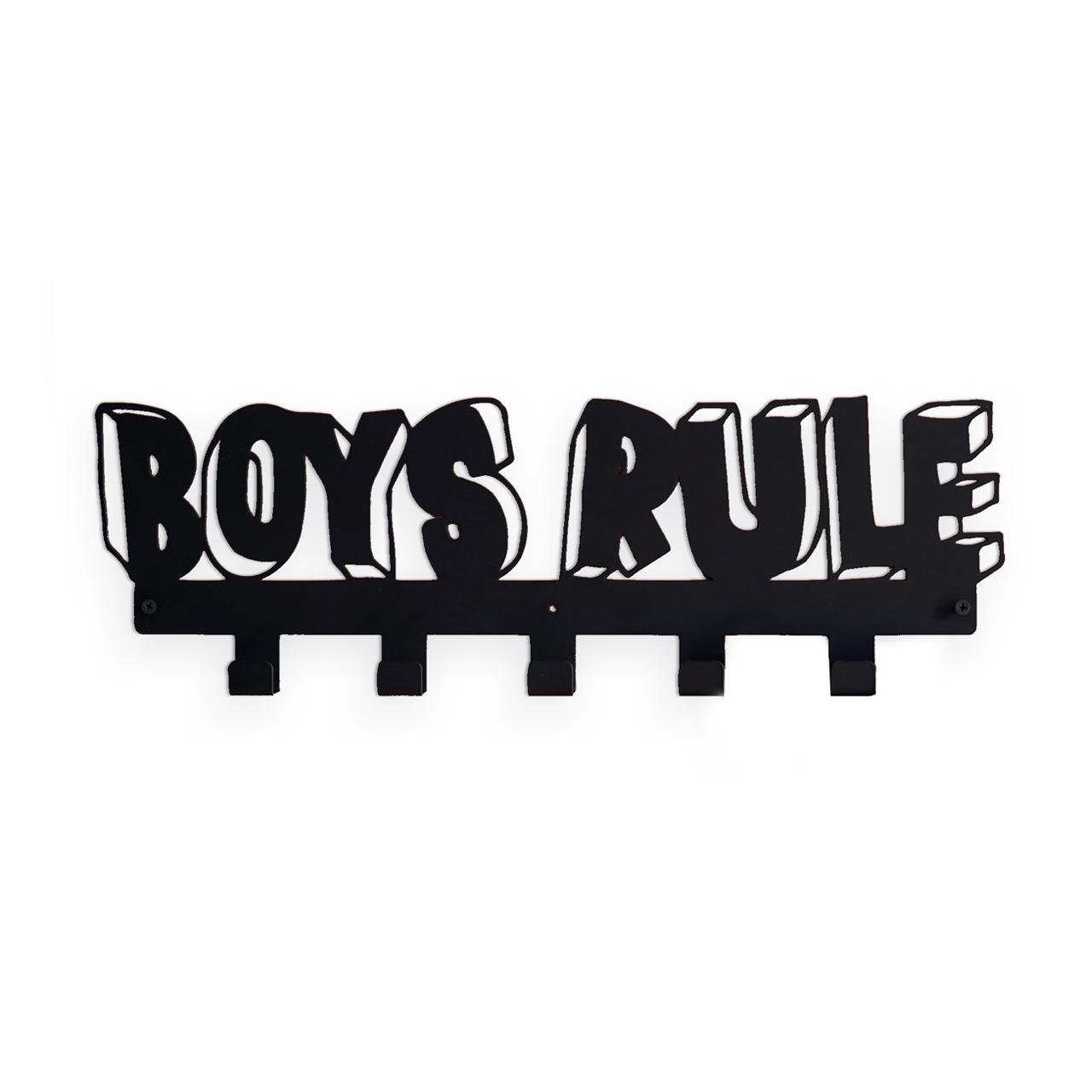 """Купить Вешалка """"BOYS RULE"""" черная в интернет магазине дизайнерской мебели и аксессуаров для дома и дачи"""
