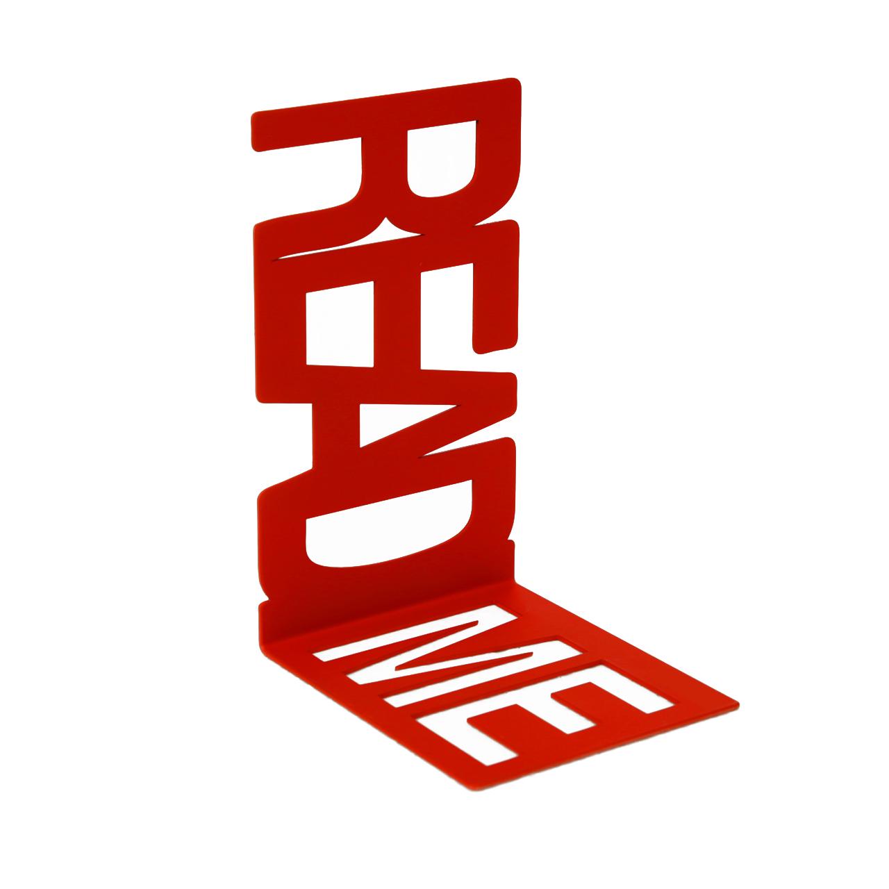 """Купить Держатель для книг """"README"""" красный в интернет магазине дизайнерской мебели и аксессуаров для дома и дачи"""