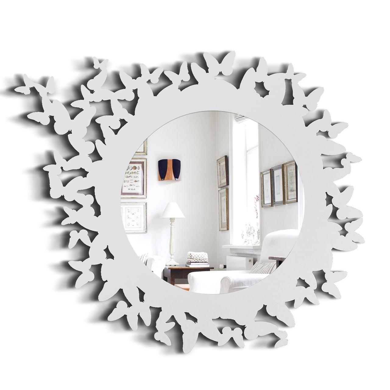 """Купить Зеркало """"BUTTERFLY"""" белое в интернет магазине дизайнерской мебели и аксессуаров для дома и дачи"""