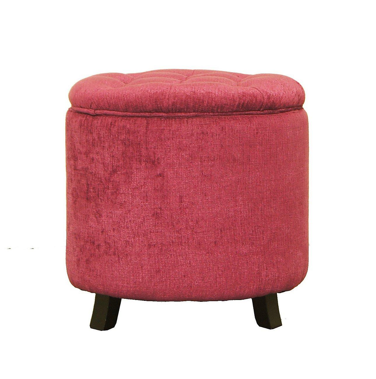 Купить Розовый пуф-контейнер на ножках в интернет магазине дизайнерской мебели и аксессуаров для дома и дачи