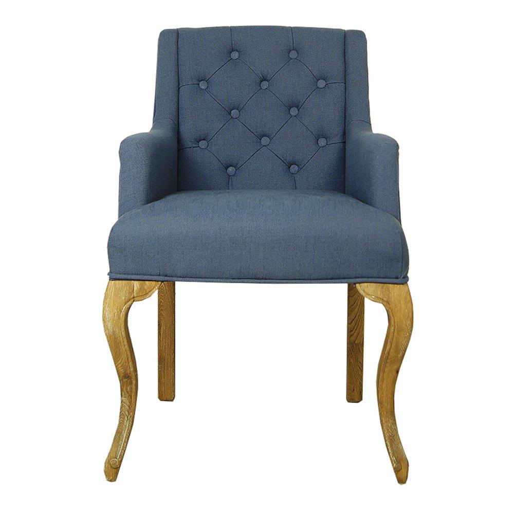 Купить Синий стул для гостиной (Классицизм) в интернет магазине дизайнерской мебели и аксессуаров для дома и дачи