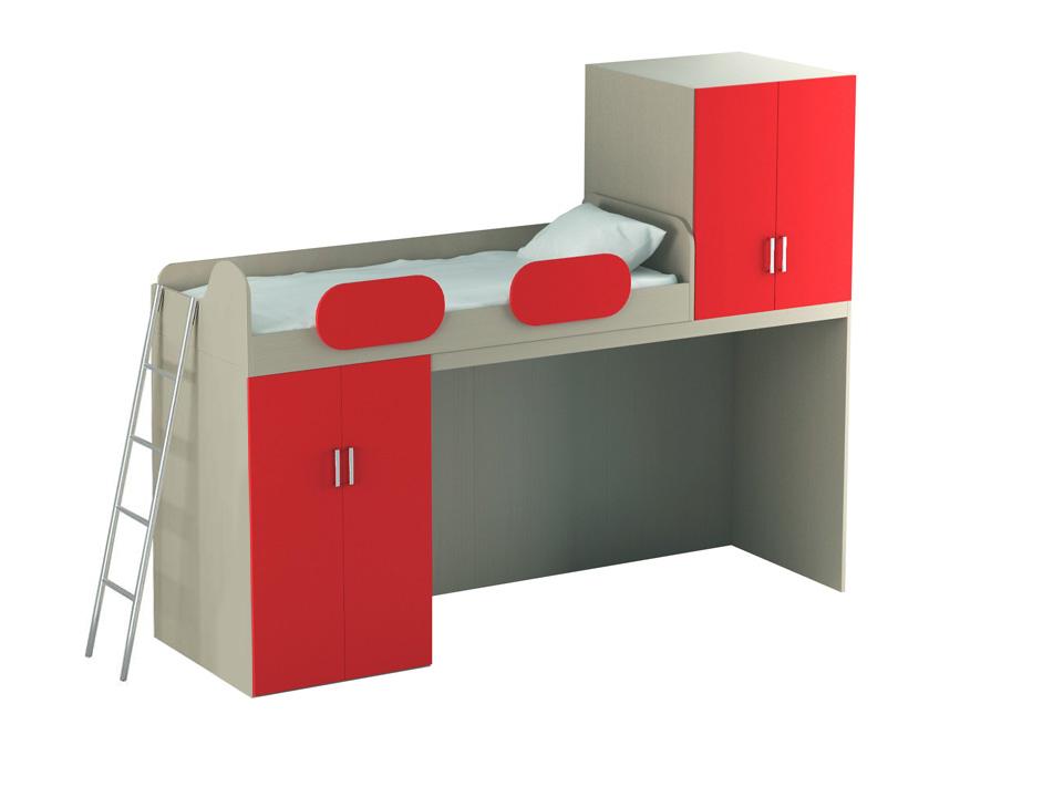 Купить Кровать-чердак Mio Red Big в интернет магазине дизайнерской мебели и аксессуаров для дома и дачи