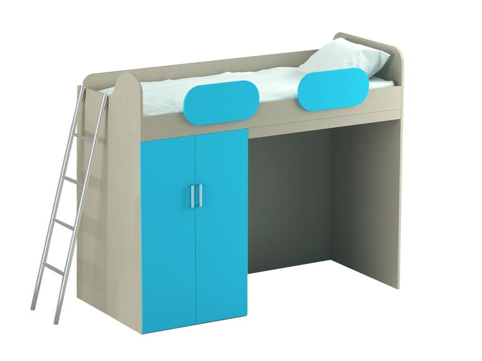 Купить Кровать-чердак Mio Blue в интернет магазине дизайнерской мебели и аксессуаров для дома и дачи