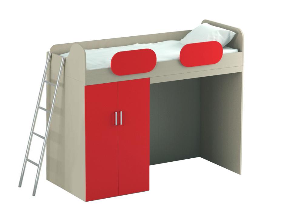 Купить Кровать-чердак Mio Red в интернет магазине дизайнерской мебели и аксессуаров для дома и дачи
