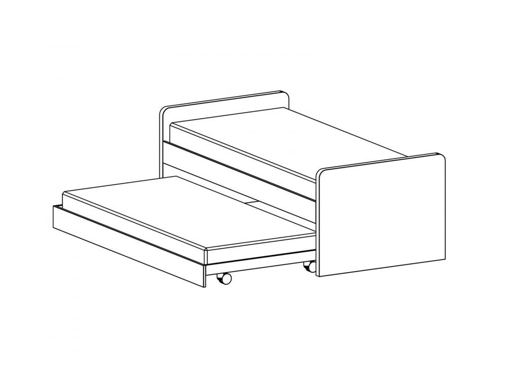 Кровать Pinokkio gray