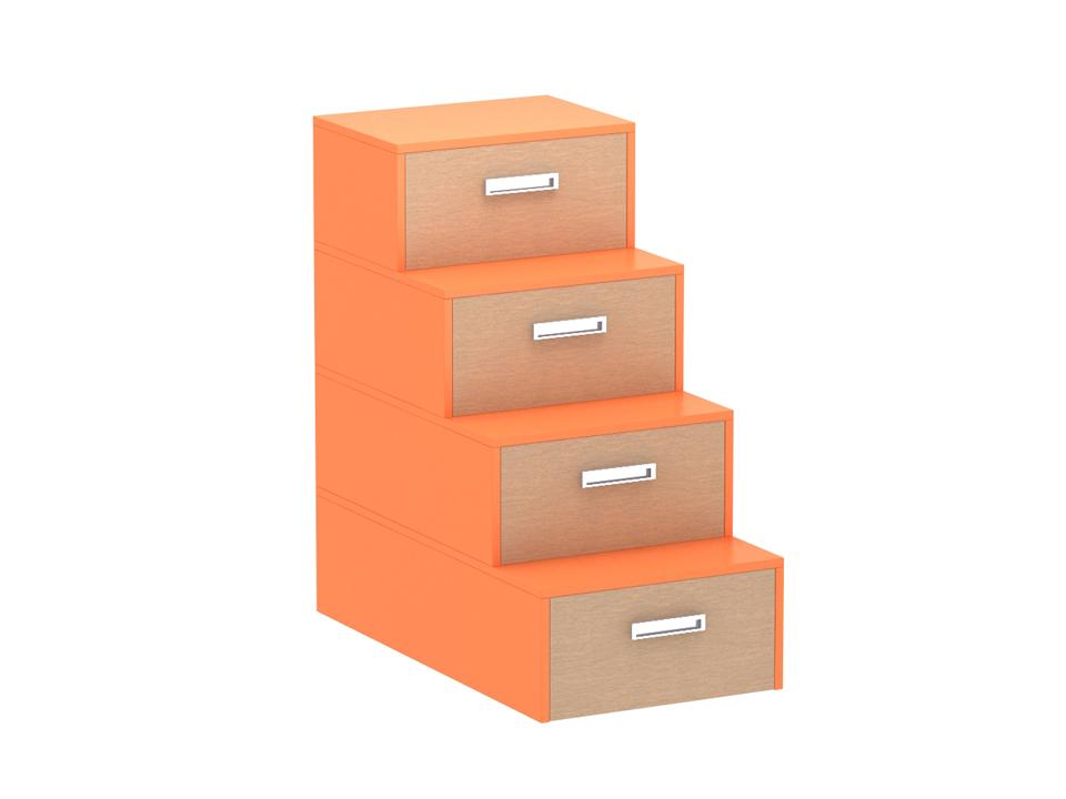 Купить Лестница-комод Pinokkio orange в интернет магазине дизайнерской мебели и аксессуаров для дома и дачи