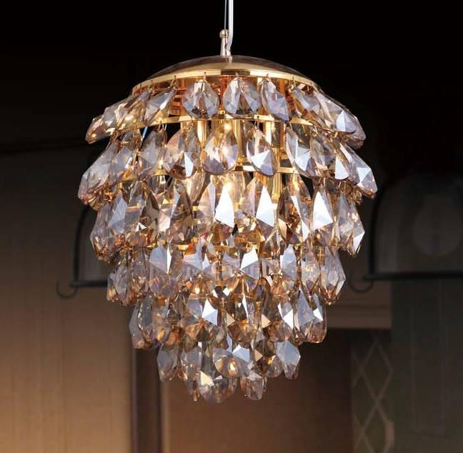 Подвесной светильник Crystal Lux Charme SP+ LED GoldTransparent