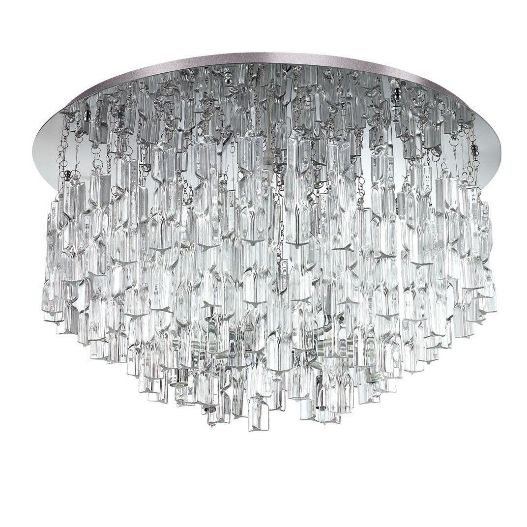 Купить Потолочный светильник люстра Ideal Lux Majestic PL Trasparente в интернет магазине дизайнерской мебели и аксессуаров для дома и дачи