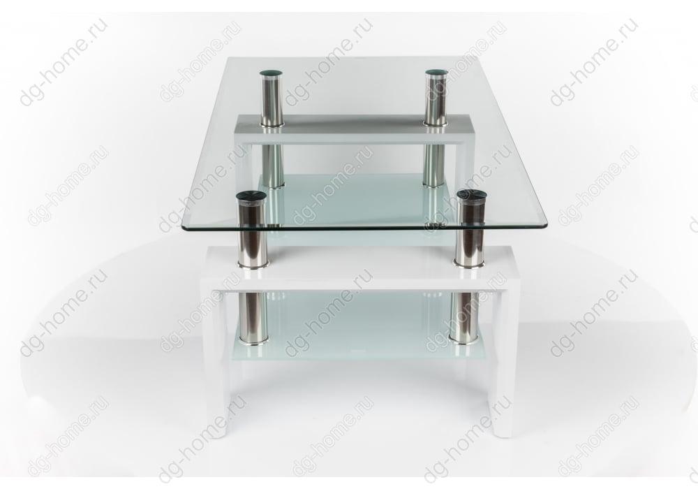 Стол стеклянный CT-52 белый лак