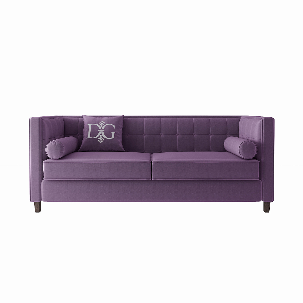 Диван Jack трехместный Пурпурный Велюр