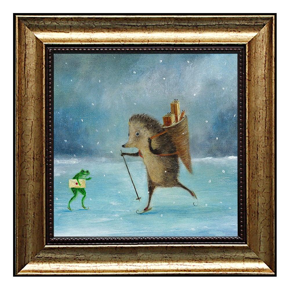 """Картина в раме """"Скоро праздник"""""""