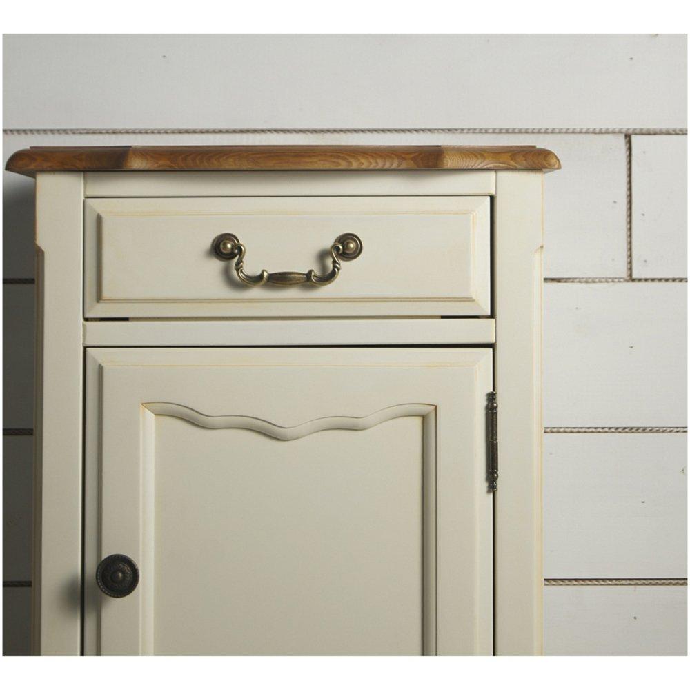Бежевая прикроватная тумба leontina (ящик с дверцой)